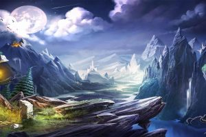 trine 2 backgrounds A4