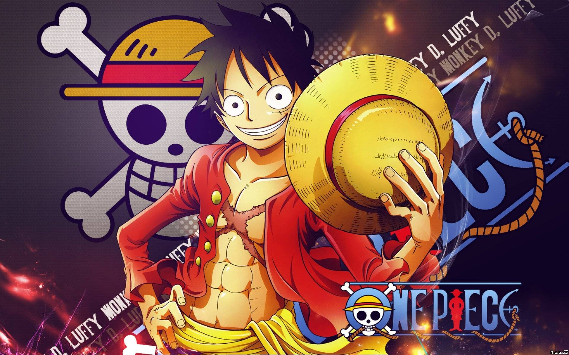 one piece Monkey D. Luffy HD manga anime widescreen desktop wallpapers free download