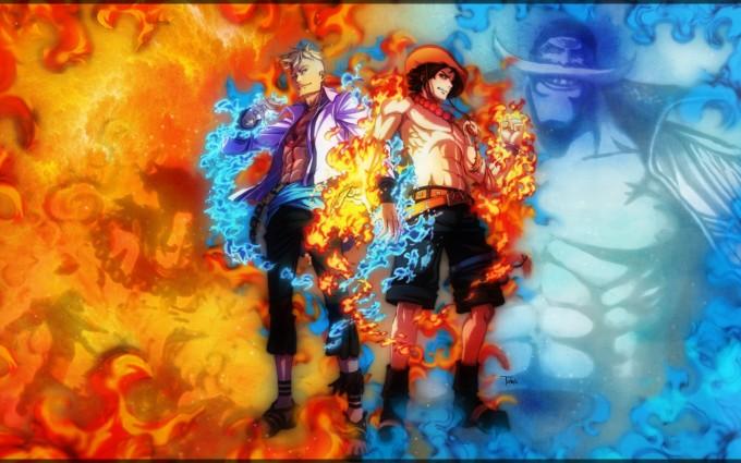 One Piece Portgas D. Ace Wallpapers Downloads A19 - Free cool beautiful 3d manga anime desktop mobile phone Backgrounds wallpapers downloads