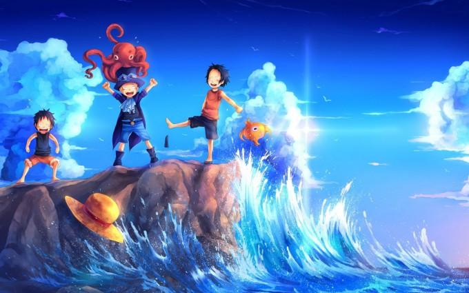 one piece Luffy monkey HD manga anime widescreen desktop wallpapers free download