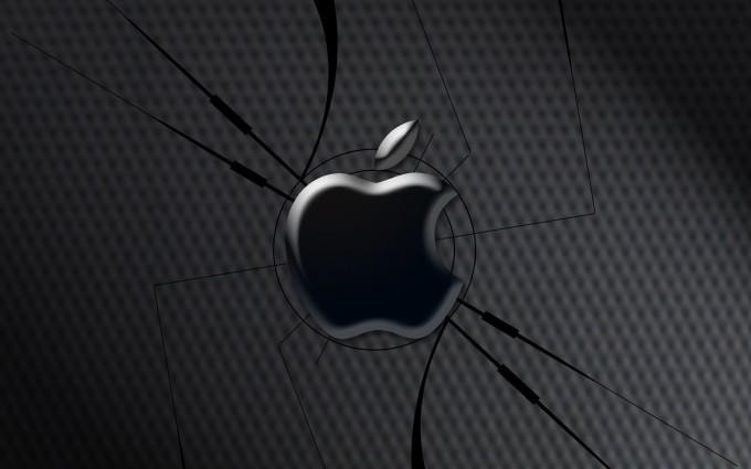 Apple Logo Wallpapers HD black cracked