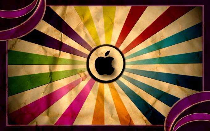 Apple Logo Wallpapers HD funky rainbow