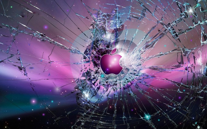 Apple Logo Wallpapers HD purple glass