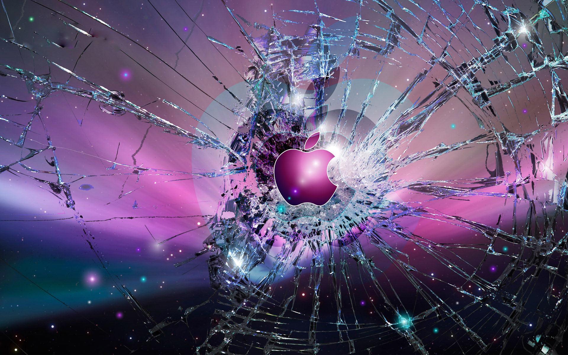 Apple Logo Wallpapers HD purple glass