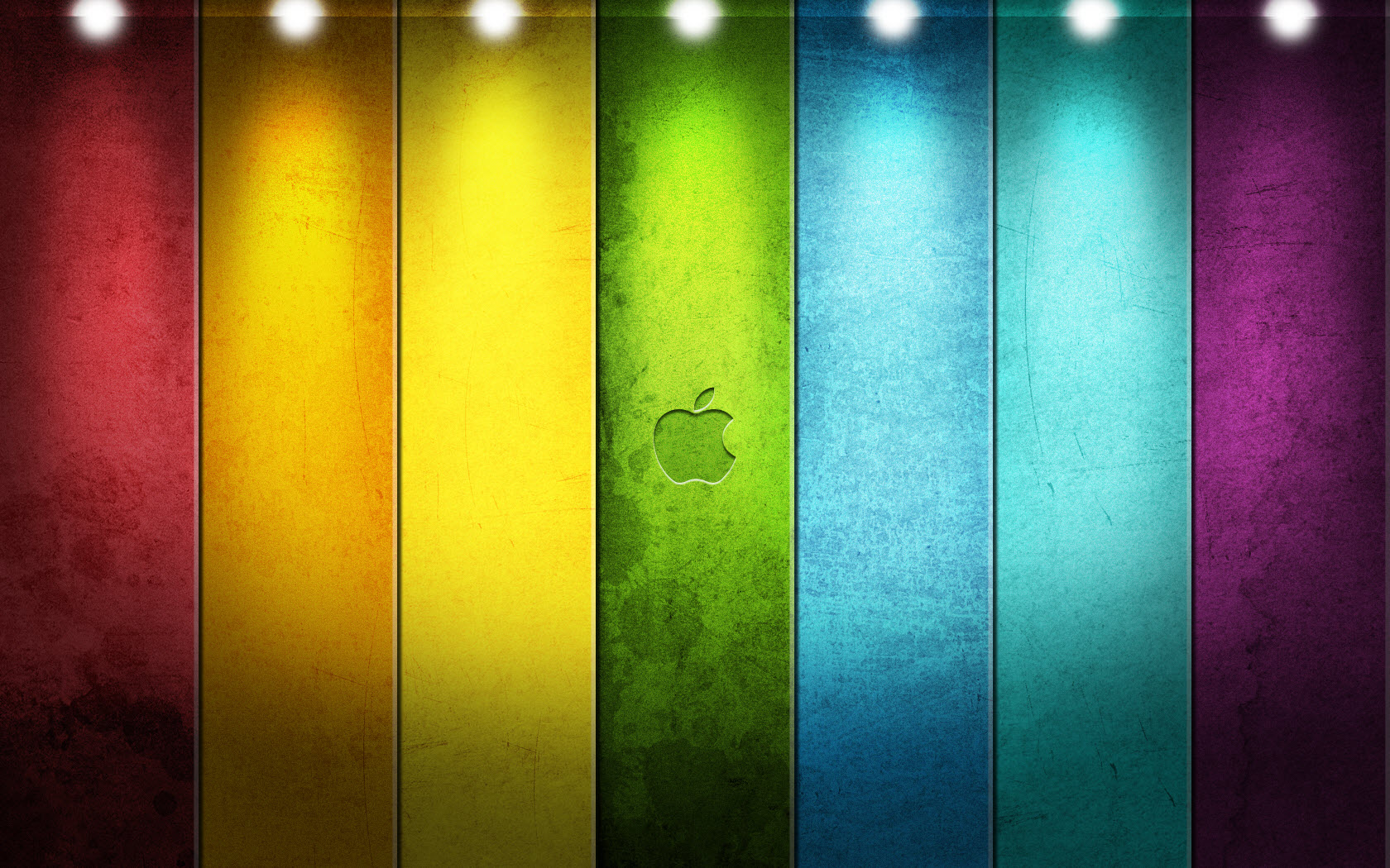 Apple Logo Wallpapers HD rainbow dotted lights