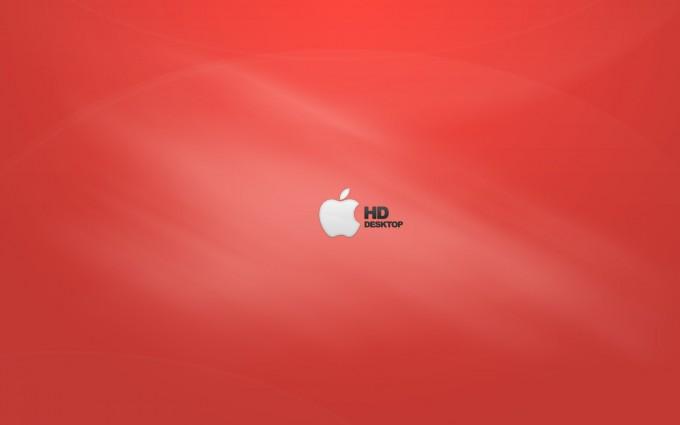 Apple Logo Wallpapers HD orangish red