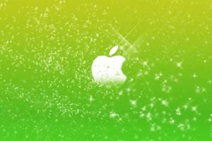 Apple Logo Wallpapers HD green stars