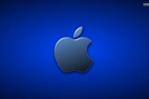 Apple Logo Wallpapers HD dark blue