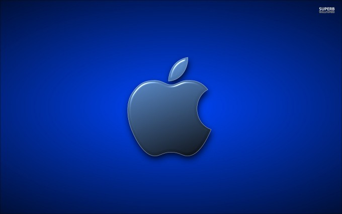 Apple Logo Wallpapers HD dark blue