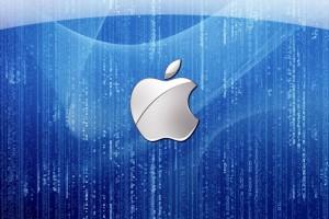 Apple Logo Wallpapers HD blue matrix
