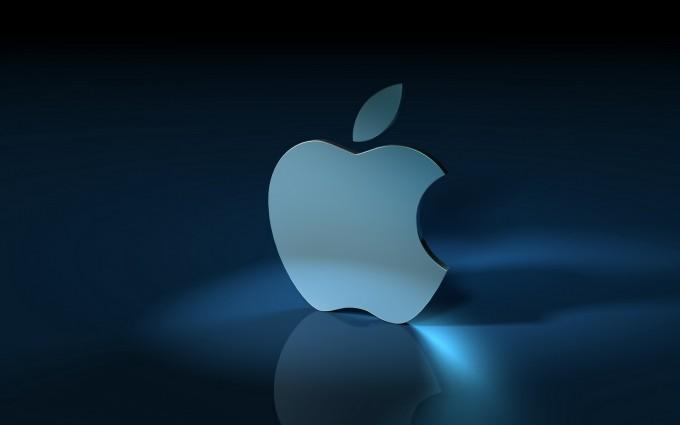 Apple Logo Wallpapers HD light blue