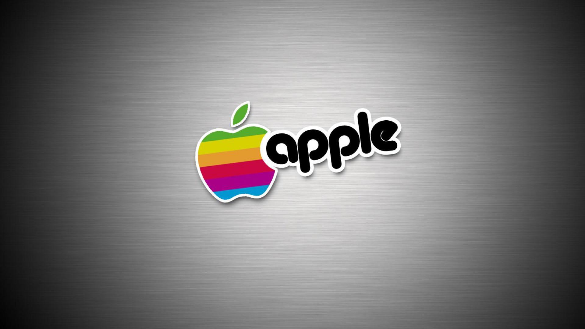 Apple Logo Wallpapers HD rainbow text