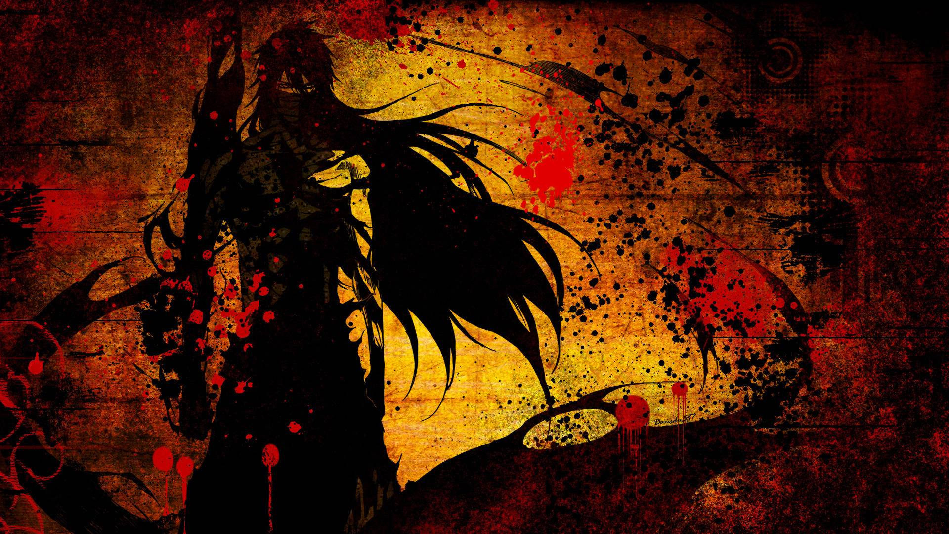 Bleach Wallpapers orange background