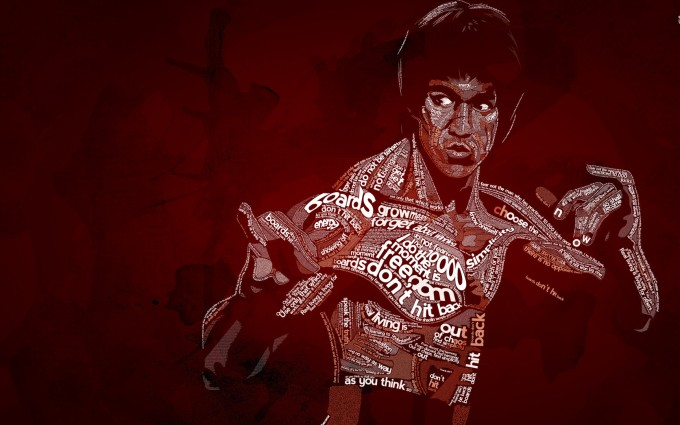 Bruce Lee Wallpapers HD maroon background