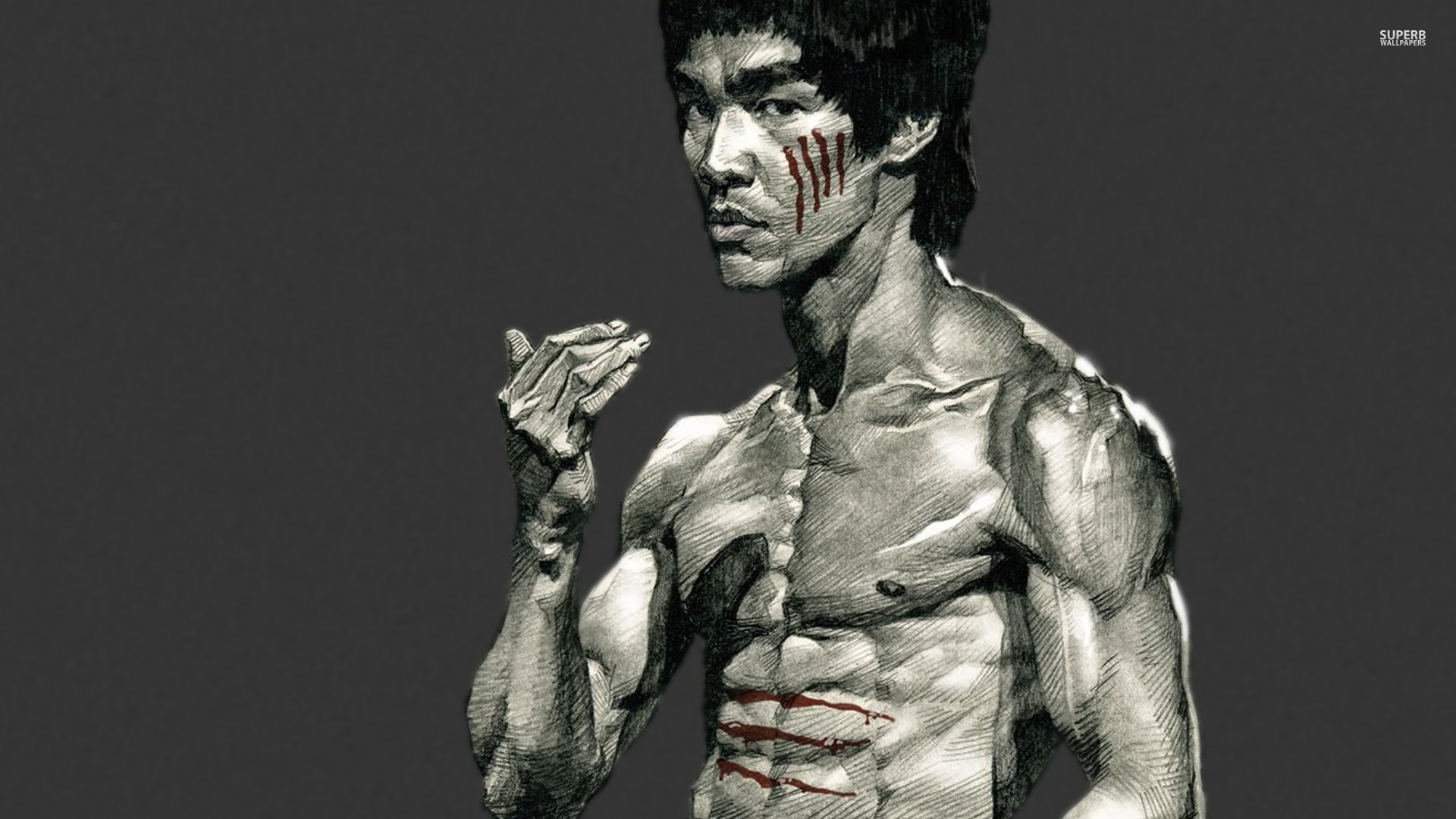 Bruce Lee Wallpapers HD kung fu pose