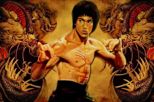 Bruce Lee Wallpapers HD yellow dragon background