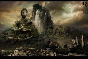 Buddha Wallpaper pictures HD waterfall mountain