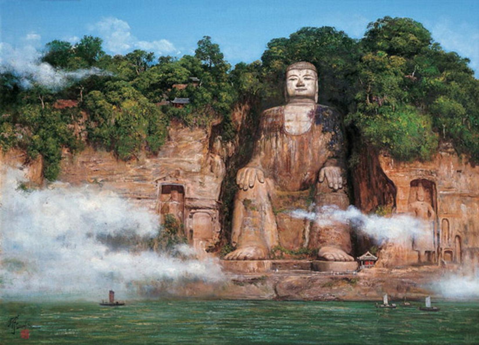 Buddha Wallpaper pictures HD mountain sculpture nature