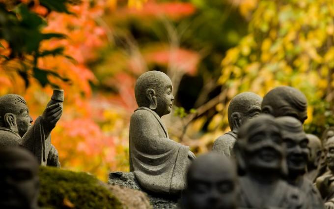 Buddha Wallpaper pictures HD monks sculpt ure