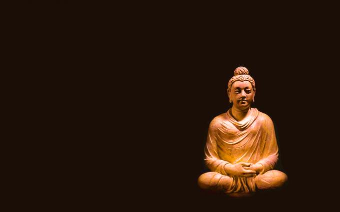 Buddha Wallpaper pictures HD orange