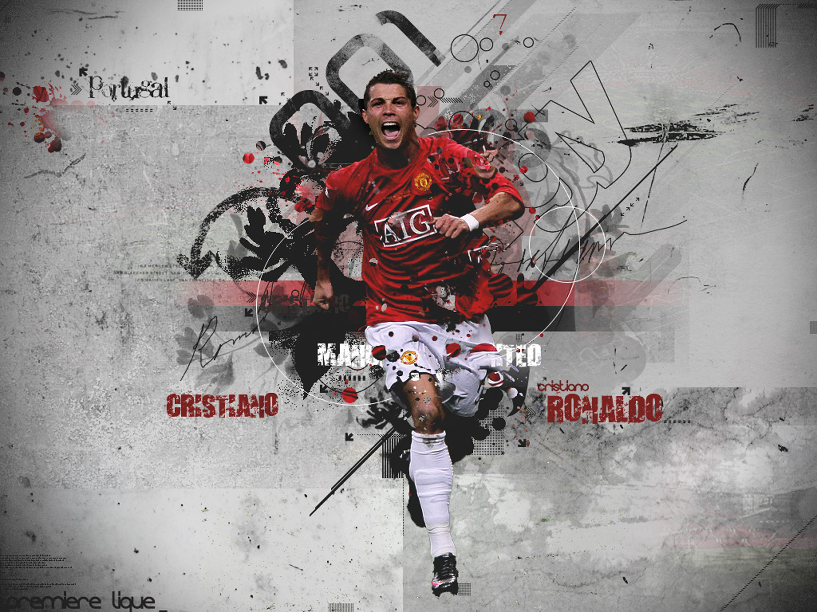 Cristiano Ronaldo Wallpapers HD red shirt