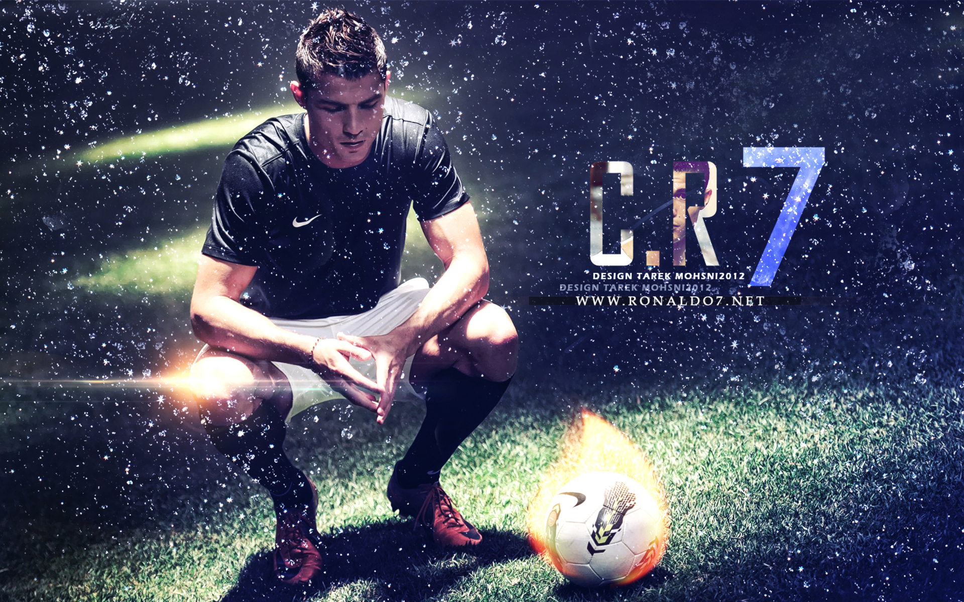 Cristiano Ronaldo Wallpapers HD soccer ball in flames