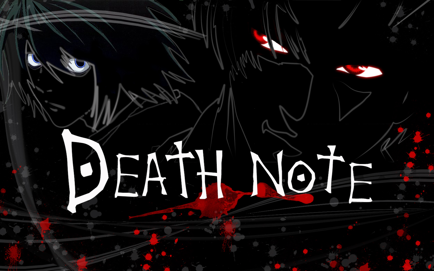 Death Note Wallpapers text logo slogan