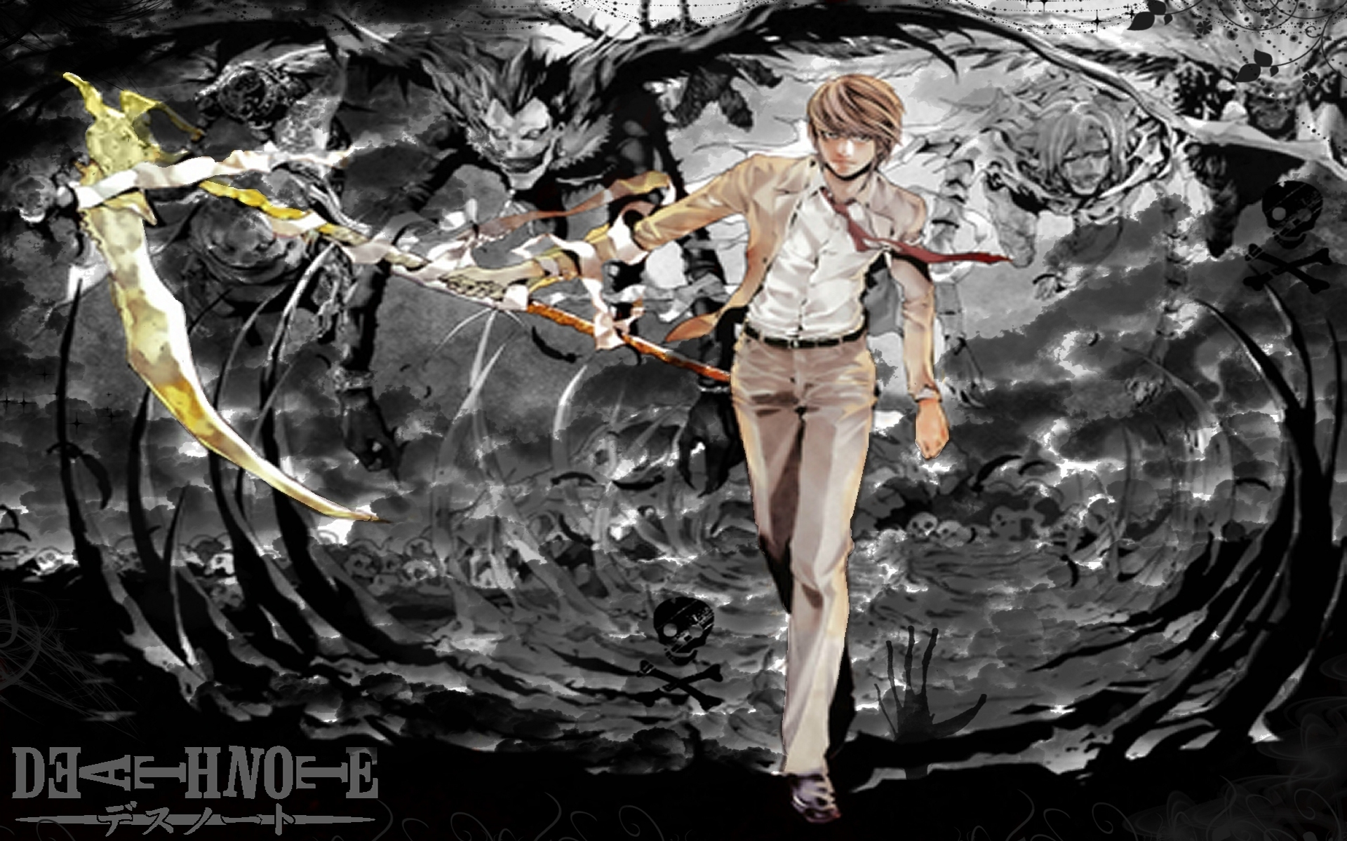 Death Note Wallpapers kira classic suit