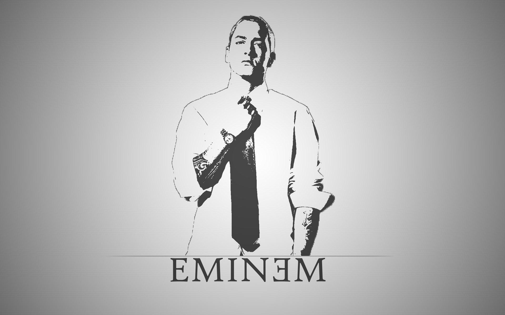 Eminem Wallpapers HD white sketch
