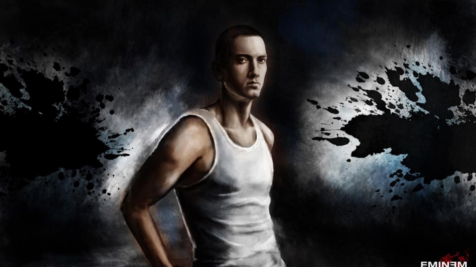 Eminem Wallpapers HD white vest