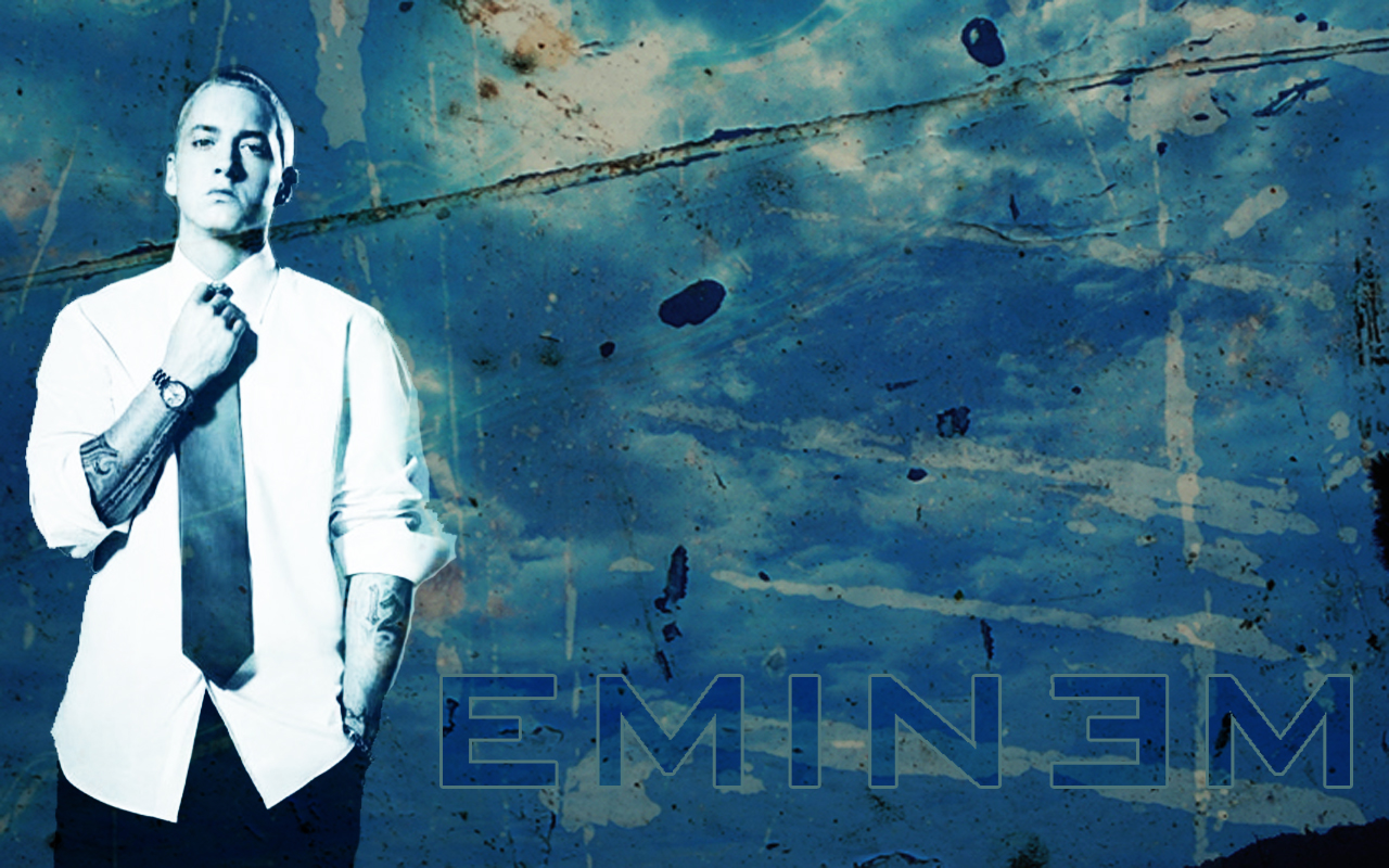 Eminem Wallpapers HD blue text