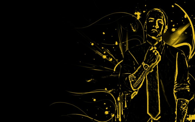 Eminem Wallpapers HD yellow sketch