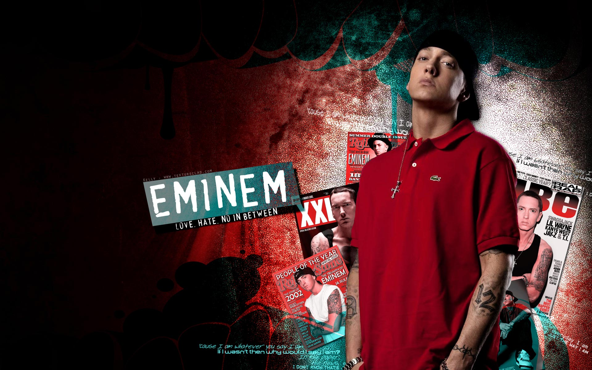 Eminem Wallpapers HD red t shirt