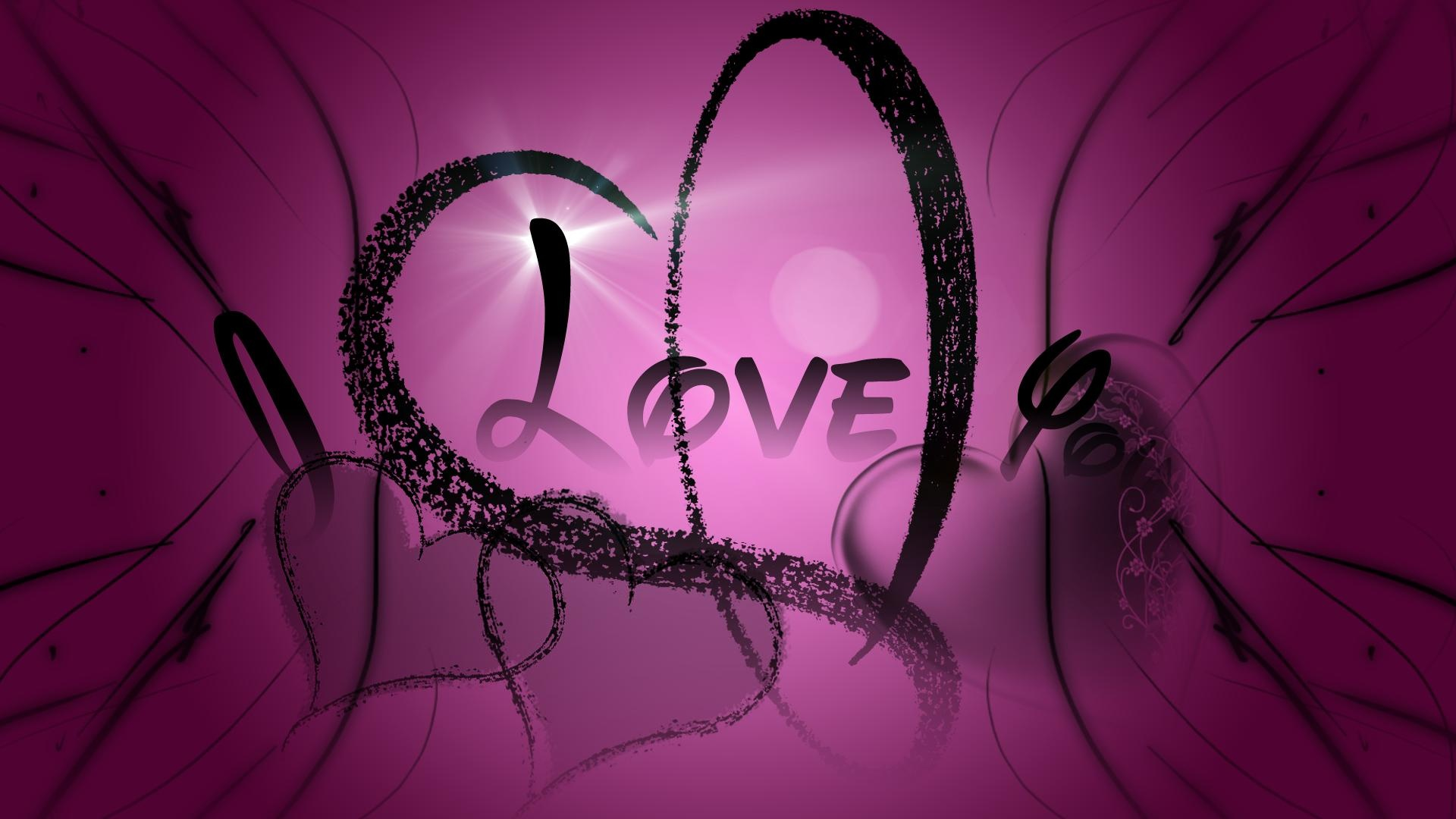 I Love You Wallpapers pink