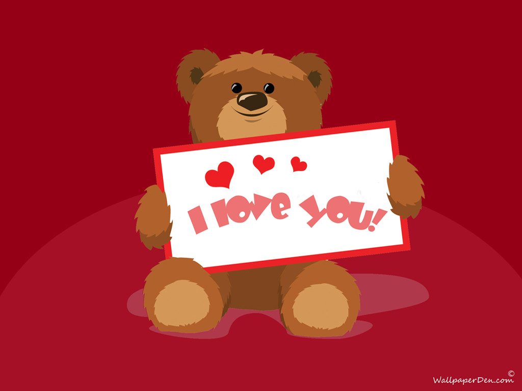 I Love You Wallpapers teddy bear