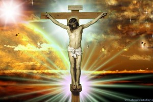 Jesus Wallpapers Images HD crucified orange background