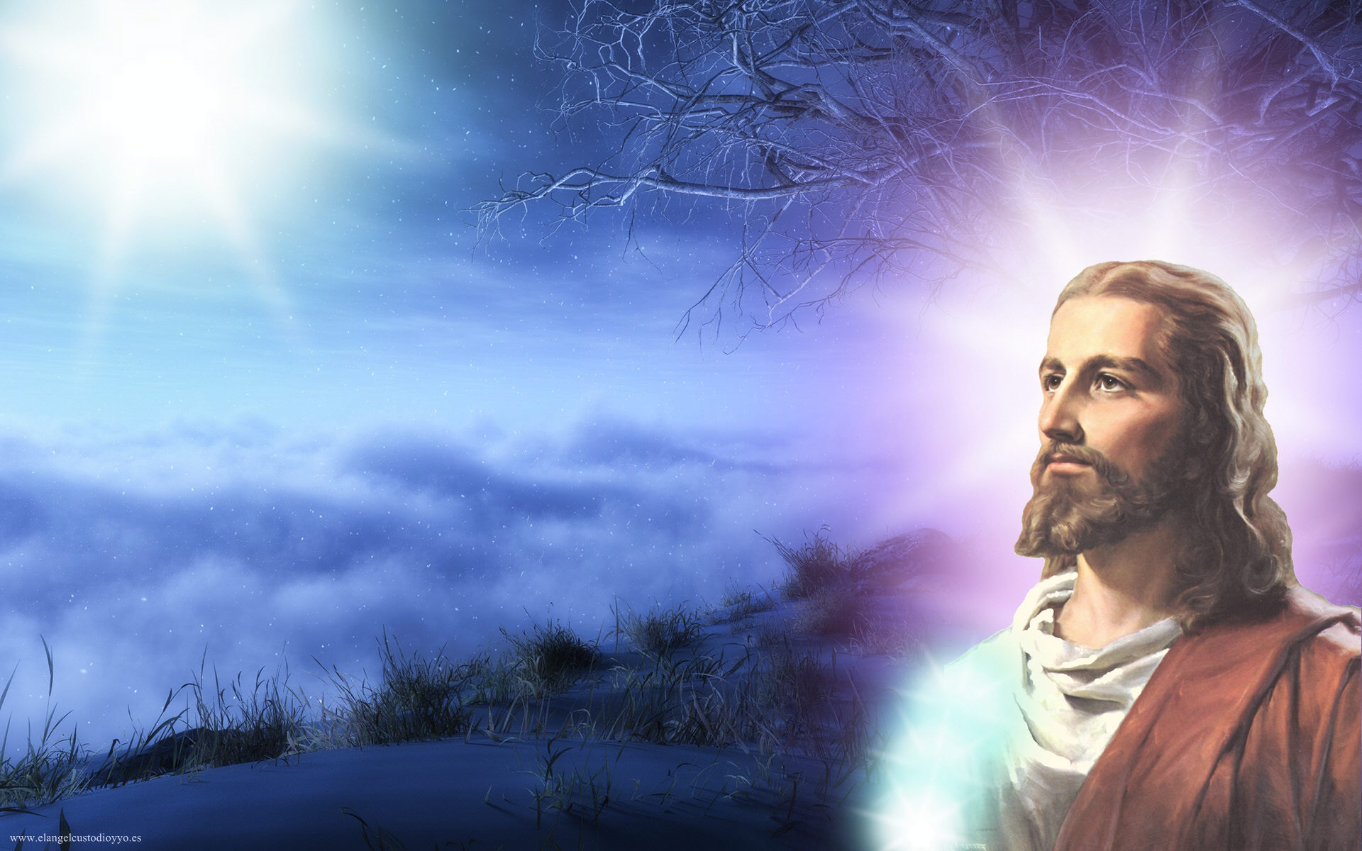 Jesus Wallpapers Images HD purple background