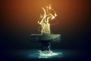 Jesus Wallpapers Images HD cross flames