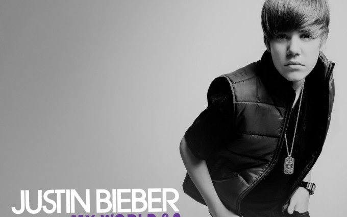Justin Bieber grey background