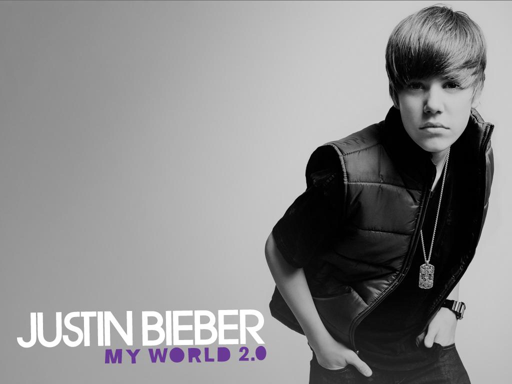Justin Bieber grey background