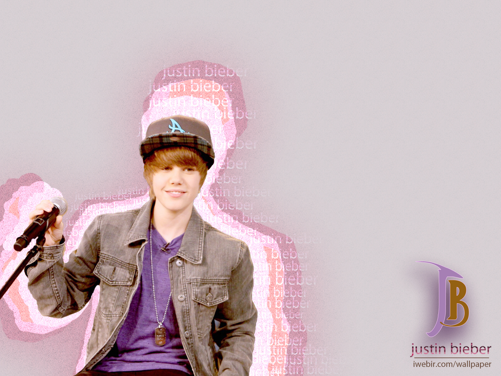 Justin Bieber wallpapers purple t shirt