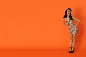 Katy Perry Wallpaper orange