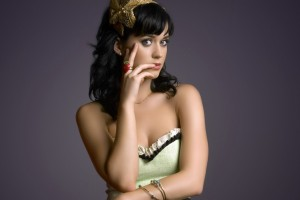 Katy Perry Wallpaper green dress