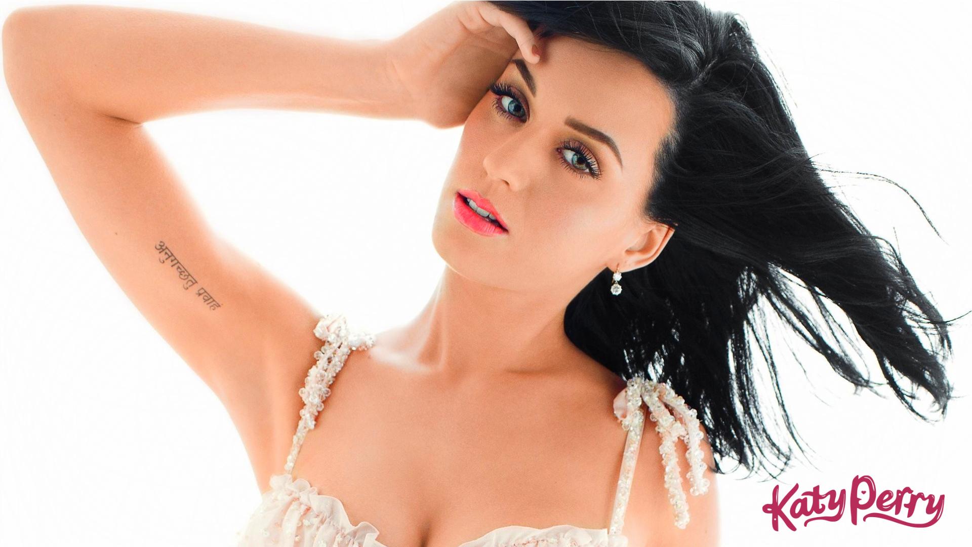 Katy Perry Wallpaper white dress