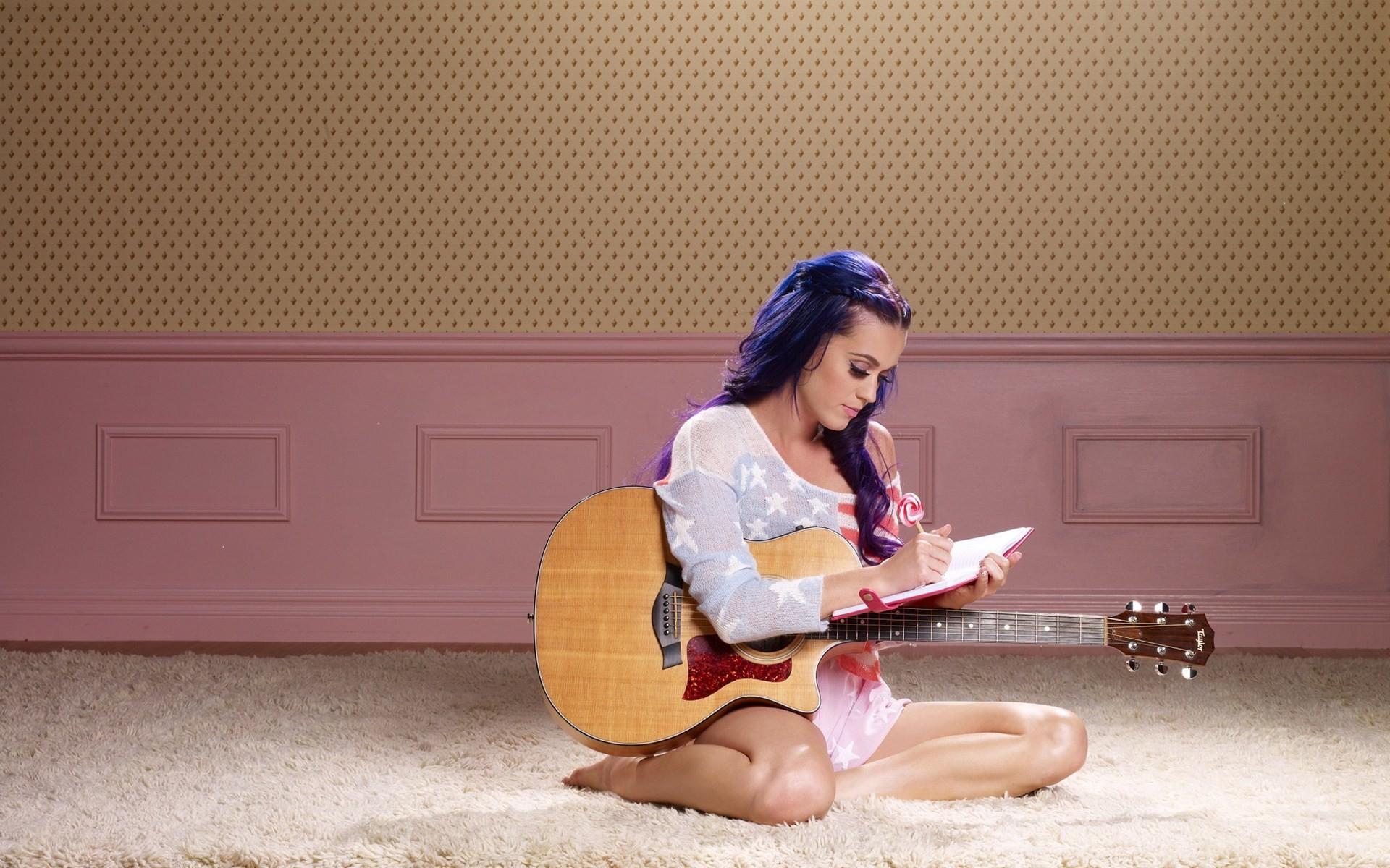 Katy Perry Wallpaper guitar cute