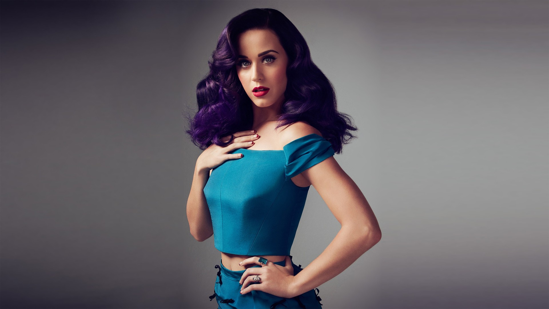 Katy Perry Wallpaper blue