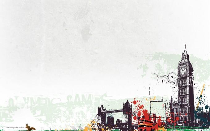 London Wallpapers HD clock cartoon vibrant