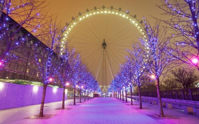 London Wallpapers HD london eye christmas