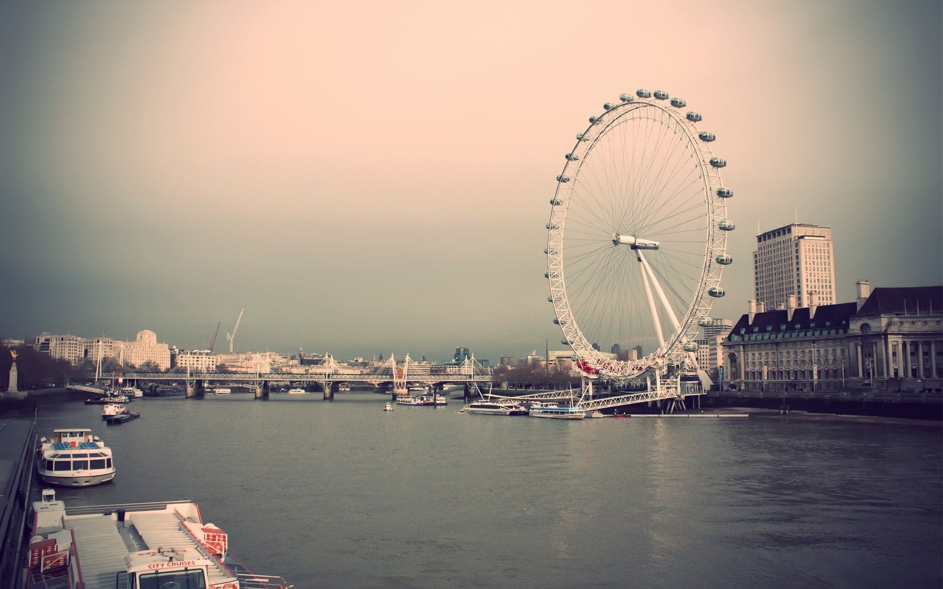 London Wallpapers HD london eye white