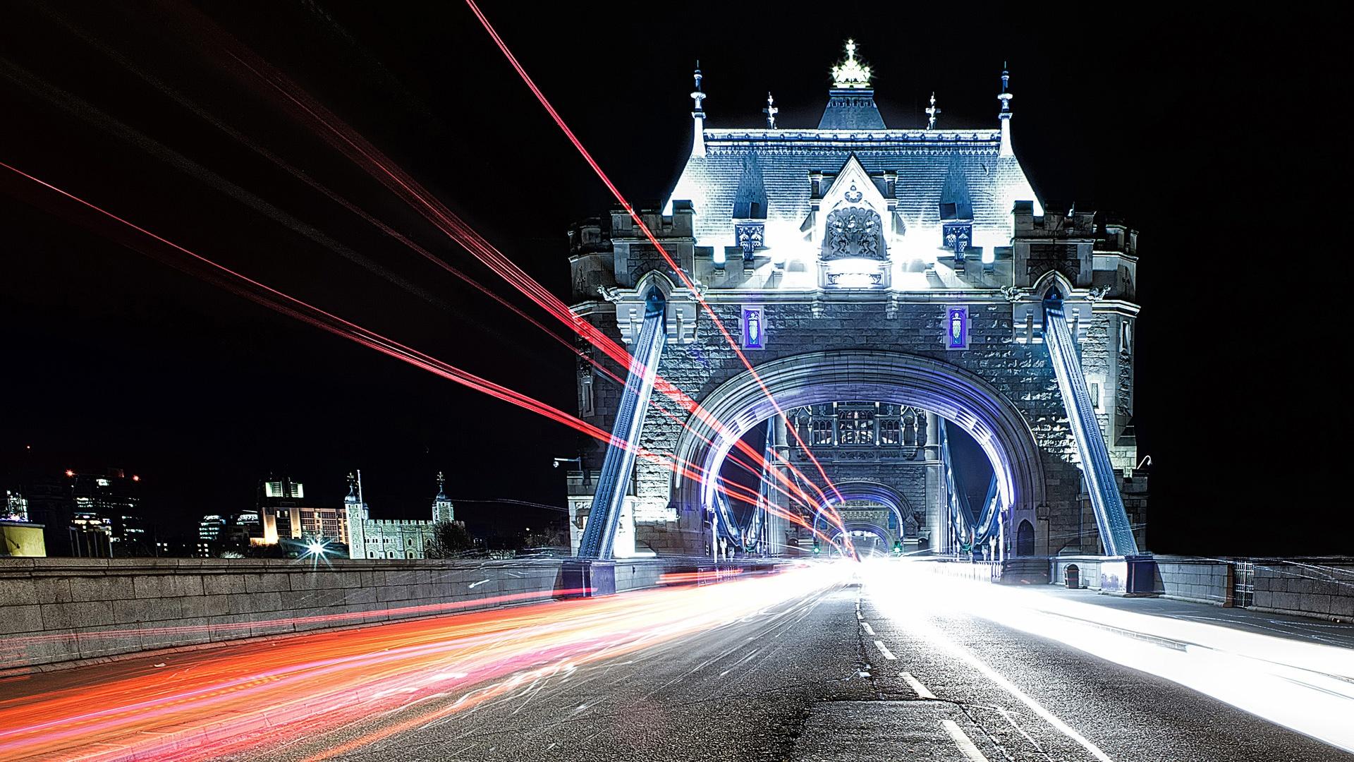 London Wallpapers HD lights bridge2
